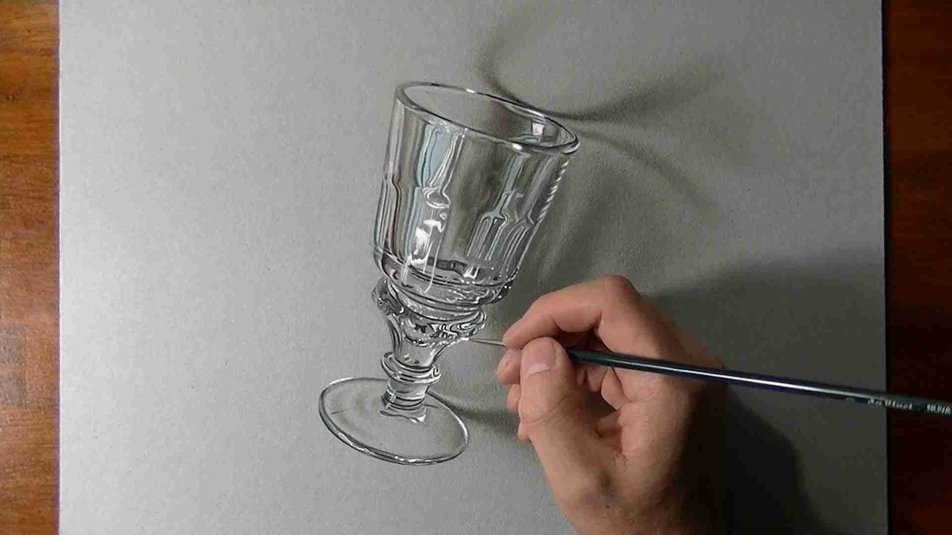 How I drew an Absinthe glass - YouTube