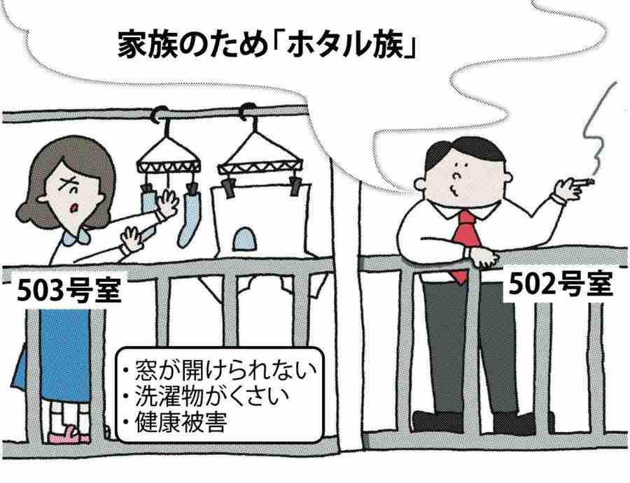 <ベランダ喫煙>煙たいよ!「被害者の会」登録急増