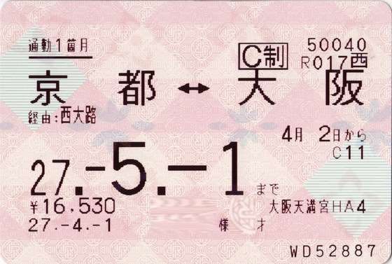 鉄道切符・定期券の画像トピ