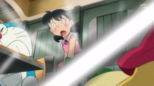 映画『ドラえもん』でしずかちゃんの服が引き剥がされるシーン、謎の光で規制される