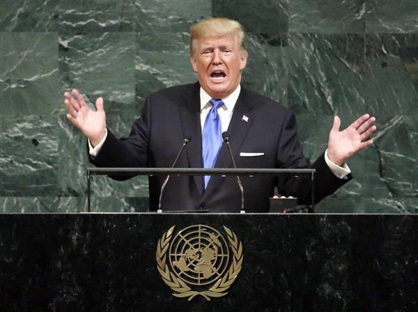 トランプ氏国連演説、米国第一と国連理念を融合 北朝鮮大使は途中退席 - 産経ニュース