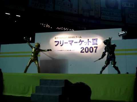 ゲキレンジャーショーでのアクシデント - YouTube