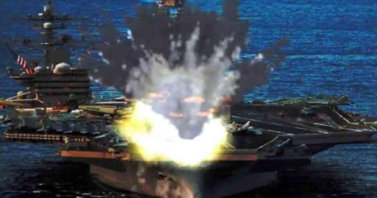 アメリカの空母が炎上? イメージ映像を北朝鮮のサイトが公開