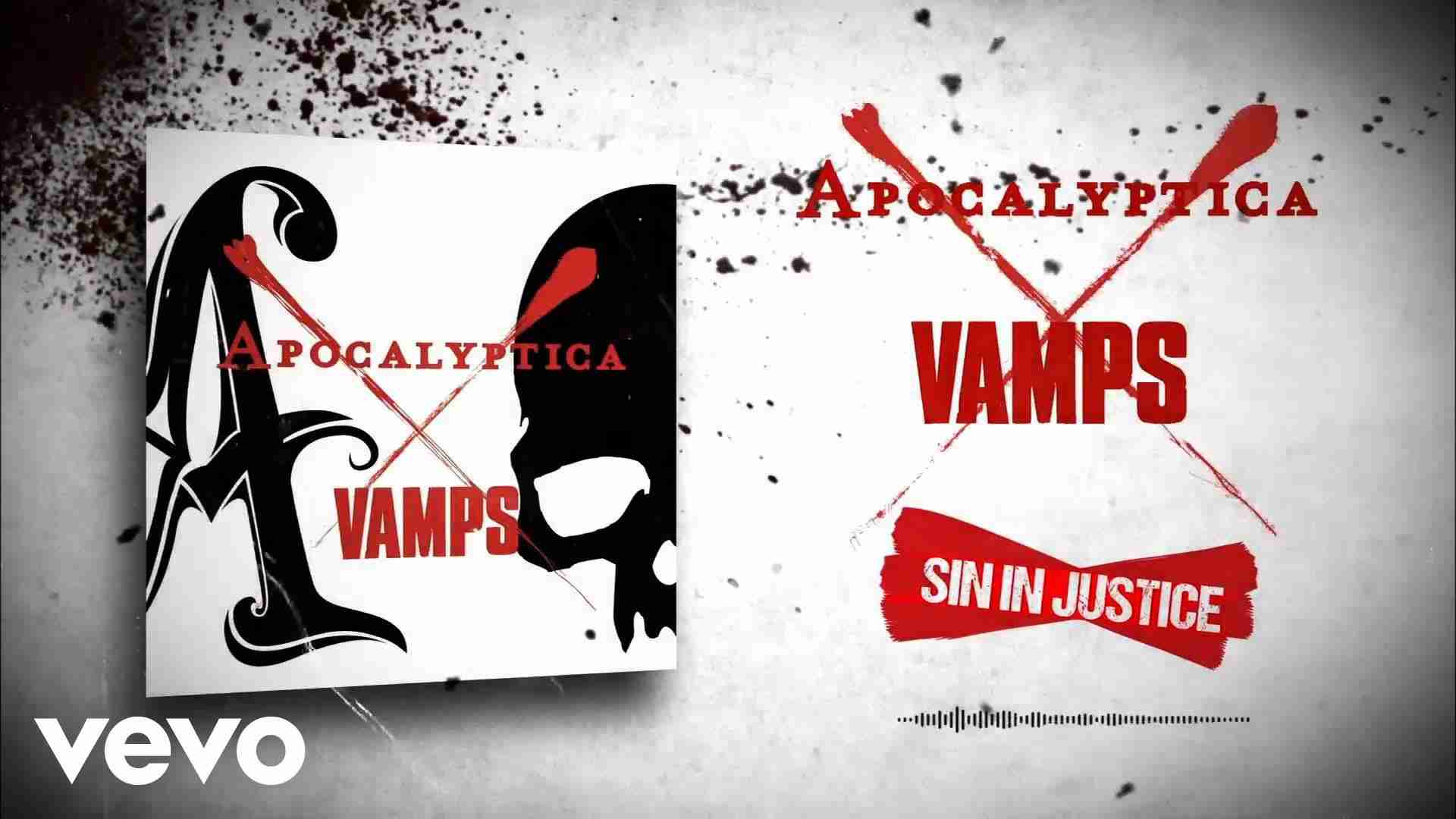 APOCALYPTICA X VAMPS - SIN IN JUSTICE (LYRIC VIDEO) - YouTube