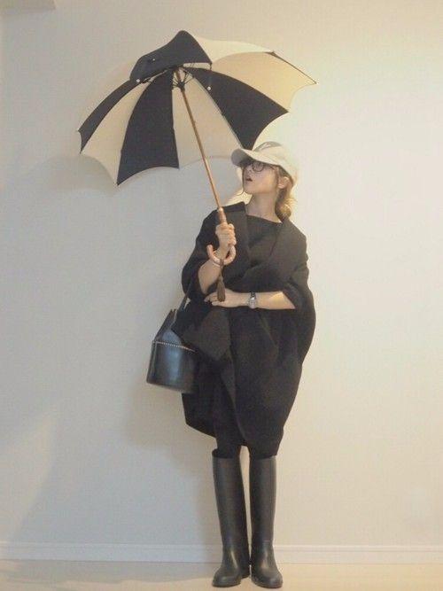 大雨の時の外出する格好。