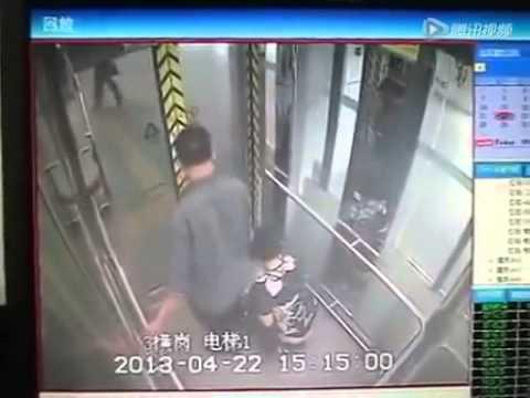 エレベーターでウンコする中国人 - YouTube