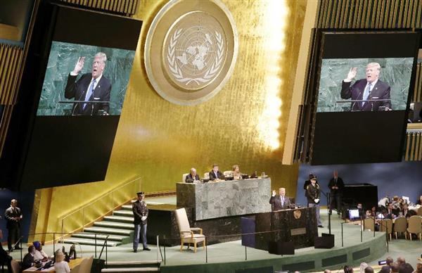 トランプ氏、国連演説で北朝鮮糾弾 「ロケットマンが自殺行為」 拉致にも言及「日本人の13歳少女を拉致した」(1/2ページ) - 産経ニュース
