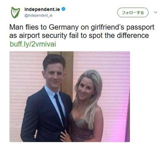 彼女のパスポートで出国できちゃった男性が現れる / 全然似ても似つかないのになぜ? | ロケットニュース24