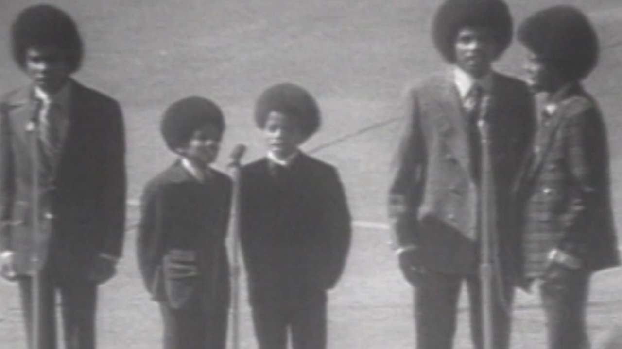 1970 WS Gm1: The Jackson 5 perform national anthem - YouTube