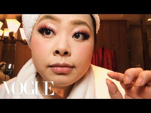Naomi Watanabe's Guide to Glitter Eyes and Bold Lips | Beauty Secrets | Vogue - YouTube