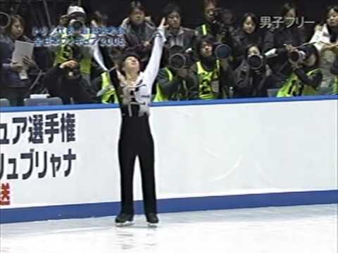 Takeshi Honda 本田武史 最後の全日本フィギュア 2005 - YouTube