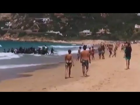 Europe Refugee Crisis: Number of migrants arriving in Spain triples year on year - YouTube