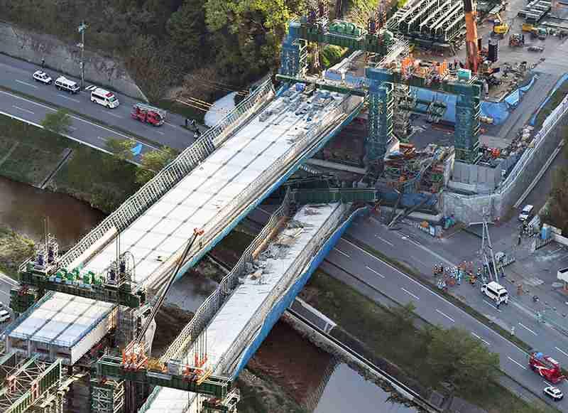 新名神高速道路の建設現場、また作業員死亡…高架橋の足場解体中に転落