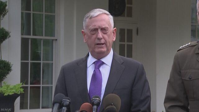 米国防長官「北朝鮮の全滅望んでいないが多くの選択肢ある」 | NHKニュース