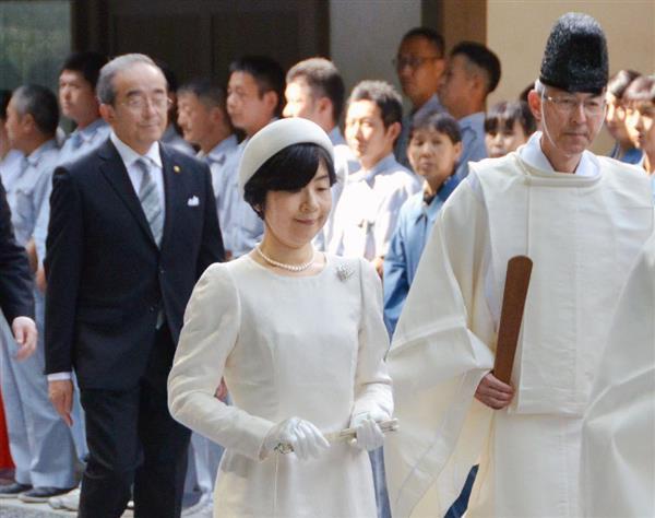伊勢神宮で祭主就任報告 両陛下の長女、黒田清子さん - 産経ニュース