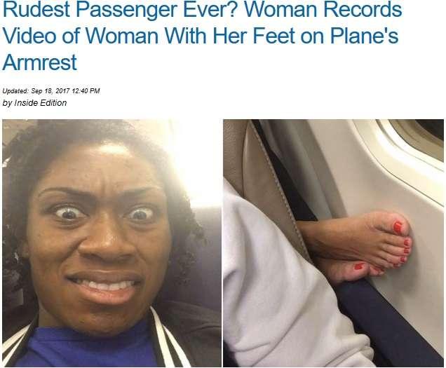 【海外発!Breaking News】機内で後ろの席から突き出た足 米女性の投稿が話題に<動画あり>   Techinsight(テックインサイト) 海外セレブ、国内エンタメのオンリーワンをお届けするニュースサイト
