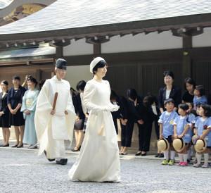 伊勢神宮で祭主就任報告 両陛下の長女、黒田清子さん