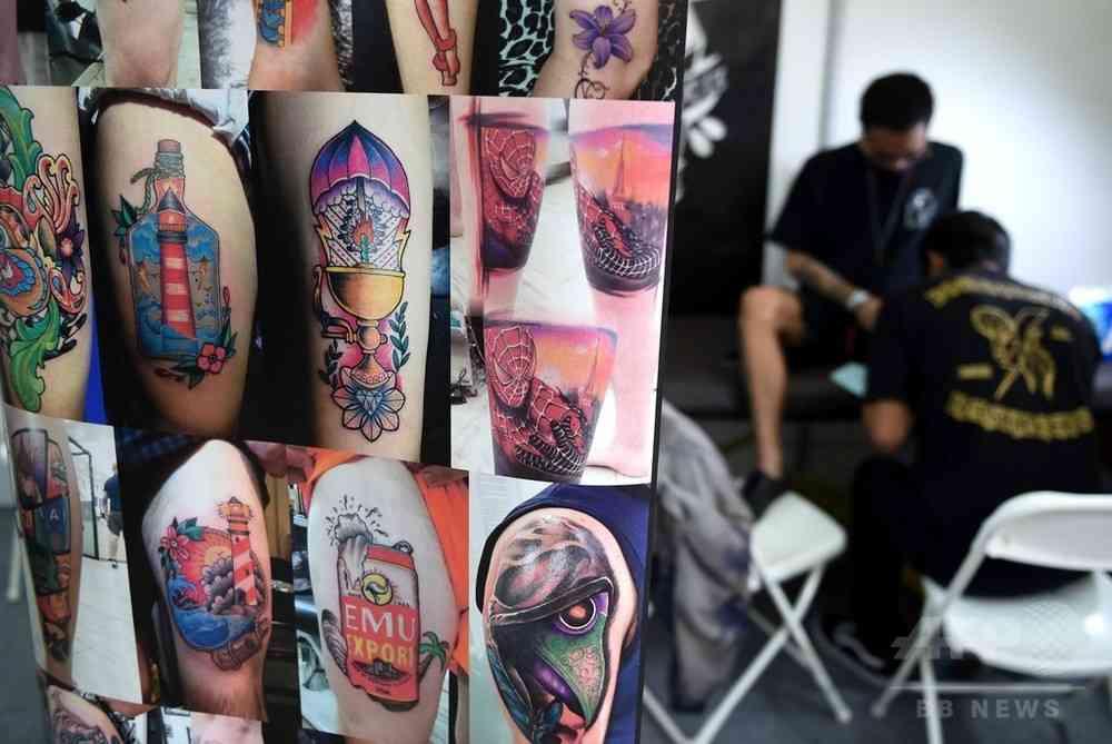 タトゥー顔料、体内深く浸透する恐れ 研究 写真1枚 国際ニュース:AFPBB News