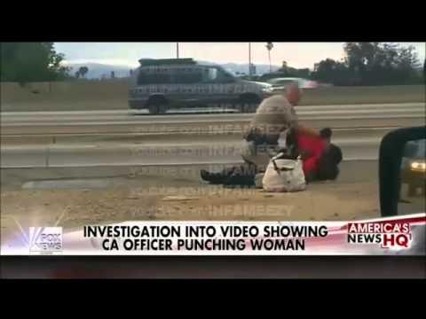 米警官、黒人女性を激しく殴る - YouTube