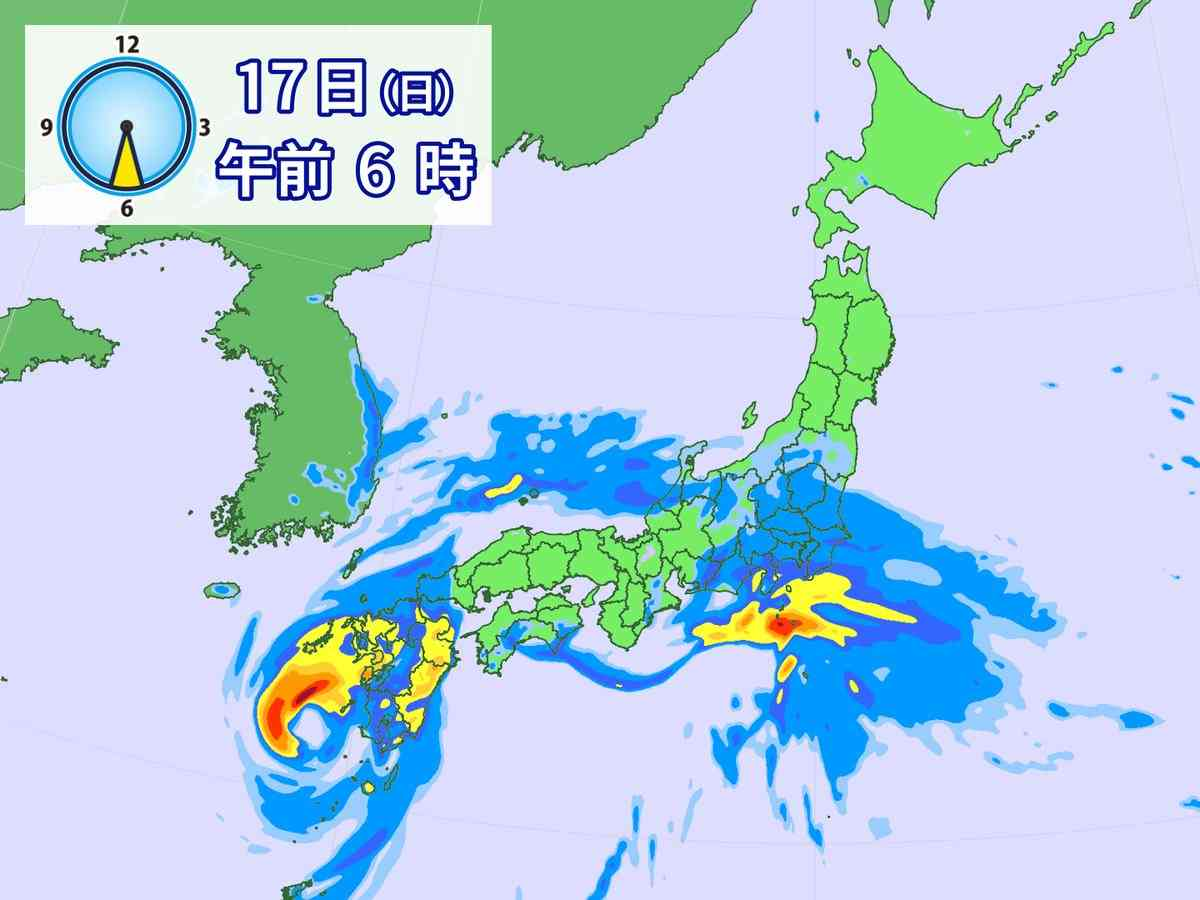 台風18号 九州に接近へ 九州南部で非常に激しい雨