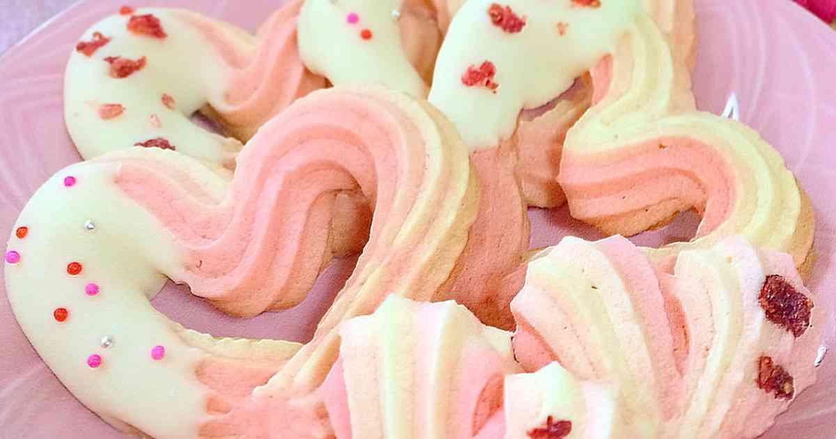 ピンクの♡ハート絞り出しクッキー by onaona 【クックパッド】 簡単おいしいみんなのレシピが276万品