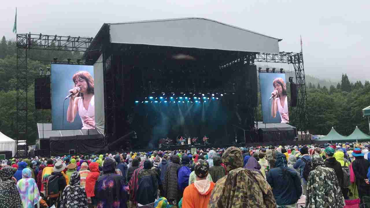 Fuji rock 2017 cocco Raining - YouTube
