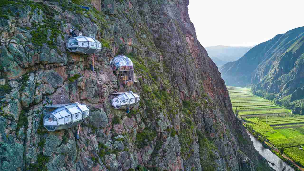 SKYLODGE ADVENTURE SUITES Cusco, Peru | Via Ferrata Climbing & Zipline | by Natura Vive - YouTube