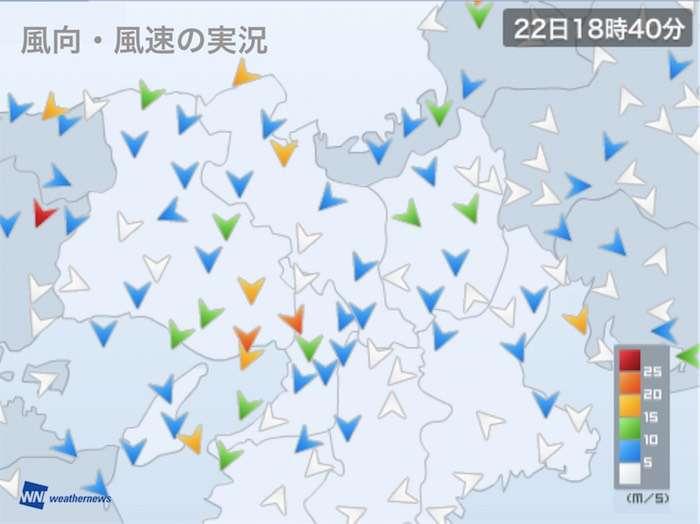 神戸で最大瞬間風速36.6m/sを観測、35m/s超えは4年ぶり - ウェザーニュース
