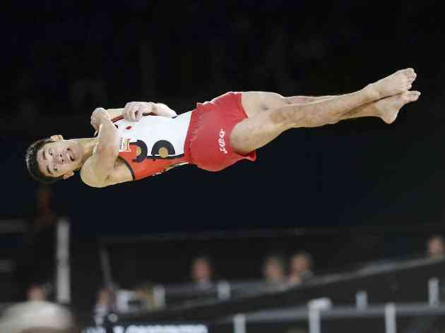 【体操世界選手権】白井健三、種目別跳馬でも「金」 個人総合銅、種目別ゆか金に続く三つめのメダル