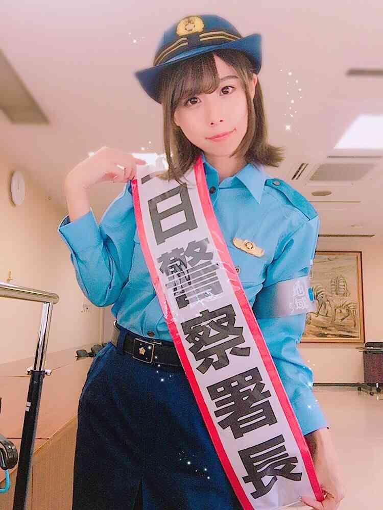 有村藍里 愛知県警で初の1日署長…感謝状ももらい防犯講話もこなし「とても光栄」