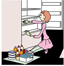 冷蔵庫、掃除しますか?