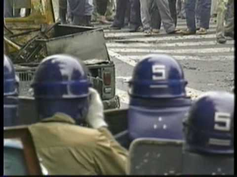 西成暴動 1990年 - YouTube