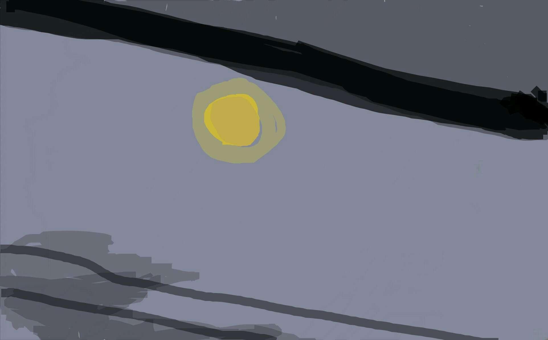 今見えてる月を描こう