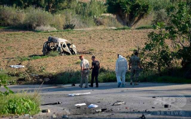 パナマ文書報道のジャーナリスト、車が爆発し死亡 首相周辺の汚職疑惑を追及