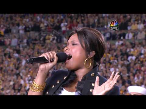 Jennifer Hudson - The Star Spangled Banner, Super Bowl XLIII 2009, subtitles lyrics HD 720p - YouTube