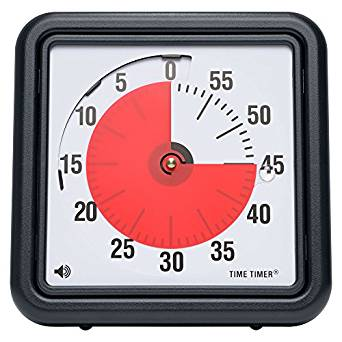Amazon | Time Timer® Time Timer タイムタイマー 19 cm 【 用途いろいろ タイマー アラーム 】 正規品 | すうじ・図形・計算 | ホビー 通販
