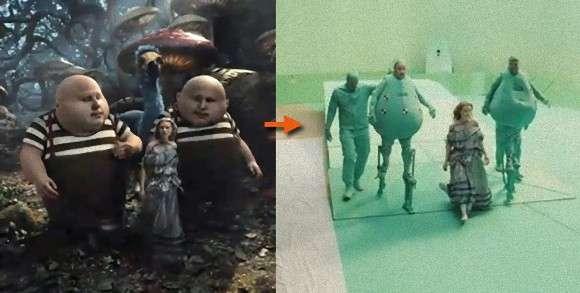 あの映画のあのシーン、視覚効果を外してみると?実際のシーンとCG処理前のシーンを比較してみた。 : カラパイア