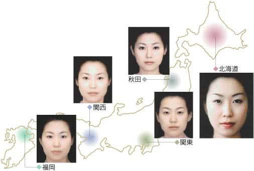 都道府県の顔の系統