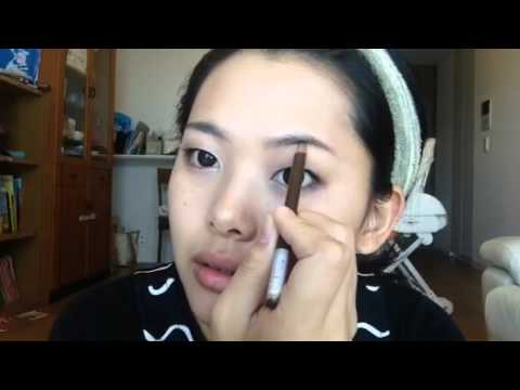 一重まぶたのナチュラルメイク/how to my natural make up - YouTube