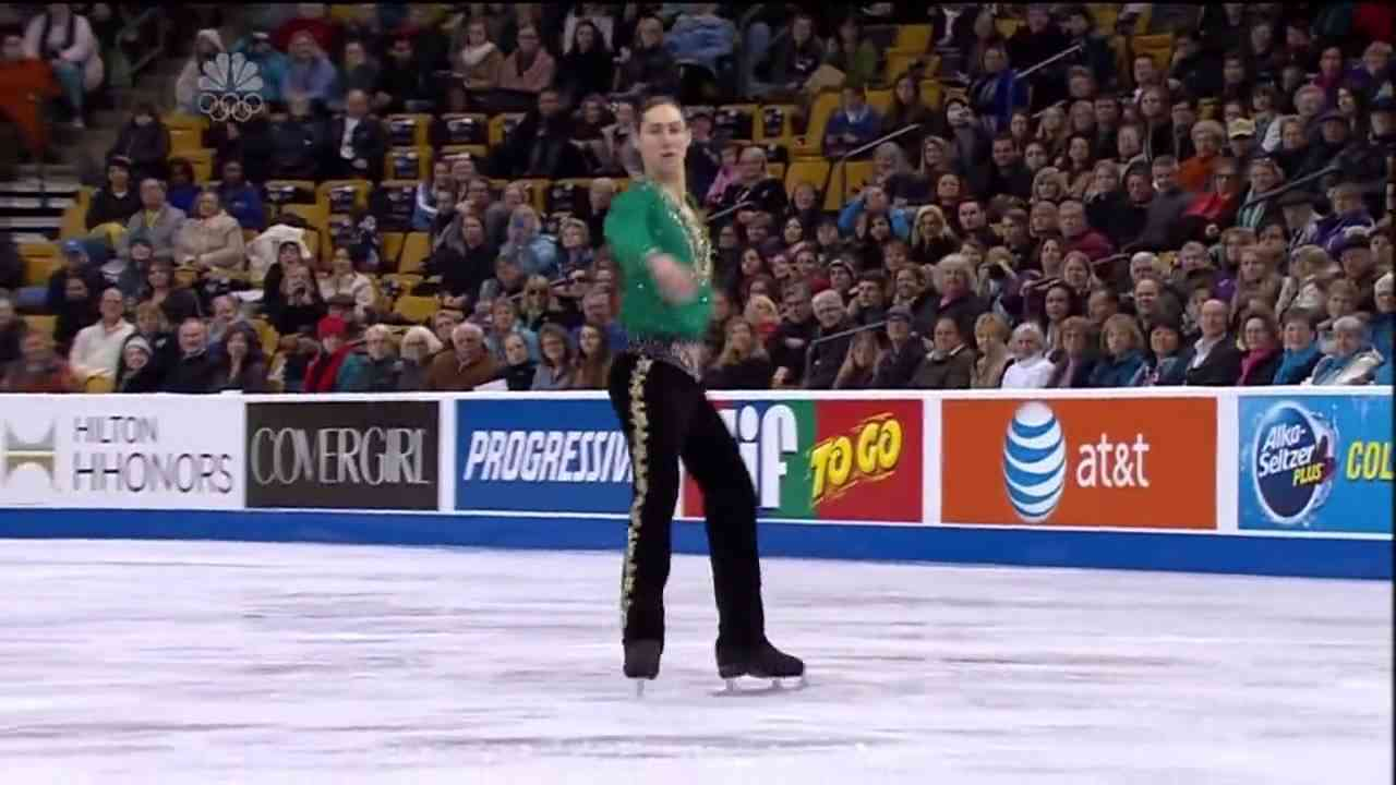 2014 US National Championships Jason Brown FS- Riverdance - YouTube