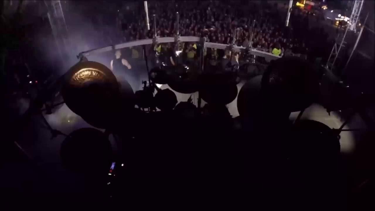 Mayhem Sweden Rock Festival 2016 Hellhammer Drum cam - YouTube
