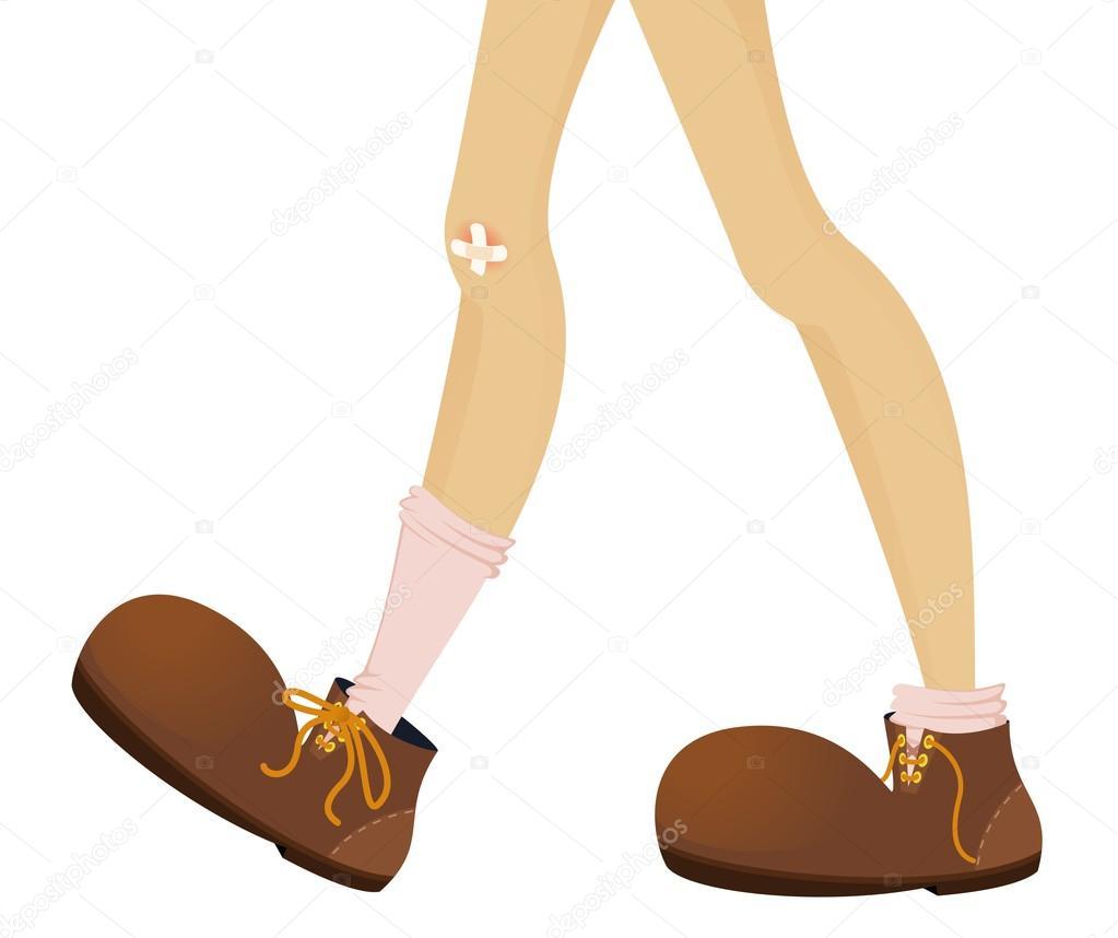 足のサイズが大きい女性