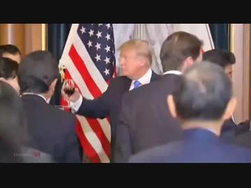 安倍総理主催晩餐会 安倍総理とトランプ大統領の開催冒頭の挨拶 - ニコニコ動画
