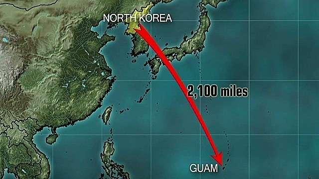 北朝鮮、グアム周辺へのミサイル発射を再び示唆