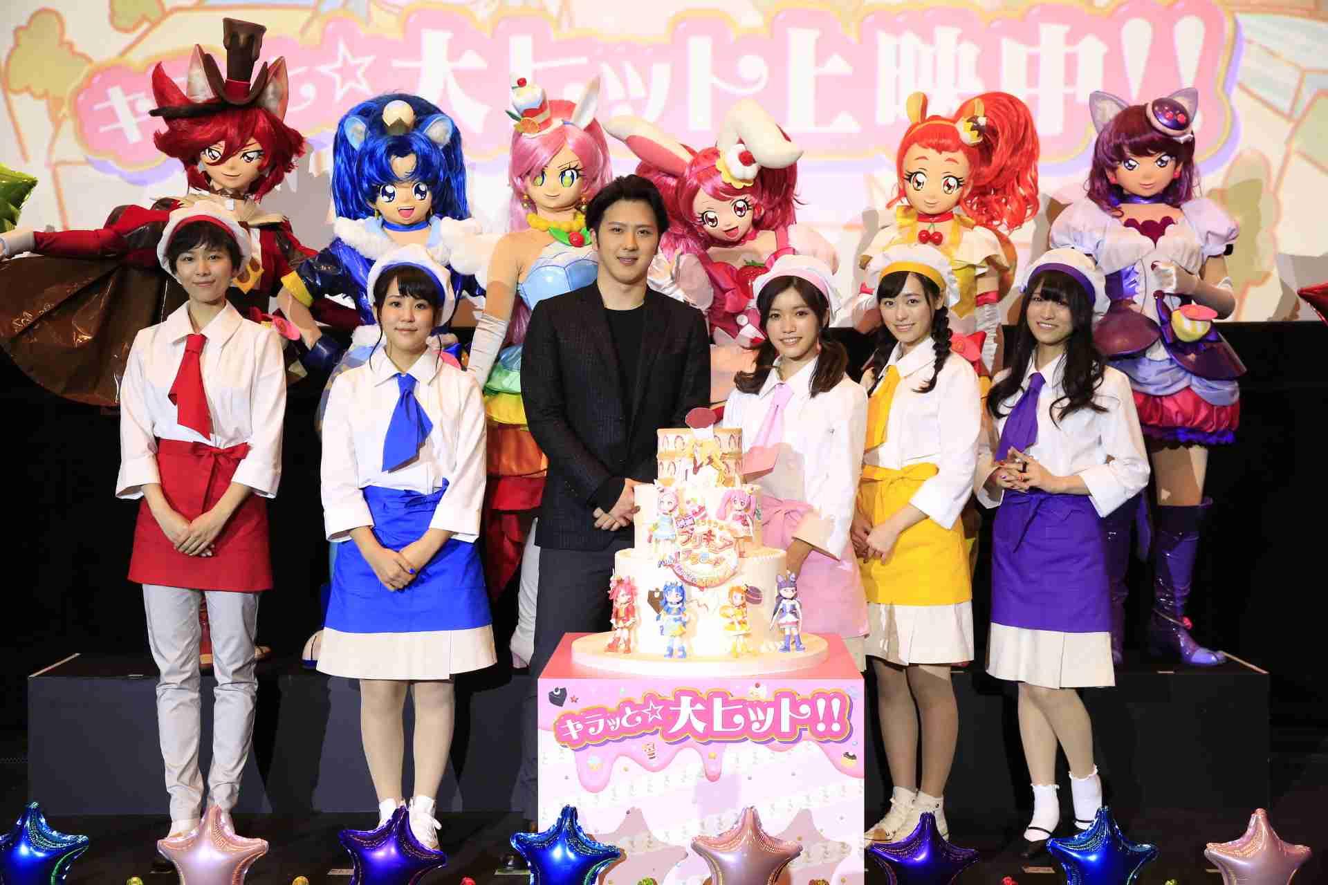 映画の大ヒットを3Dケーキでお祝い! 『映画キラキラ☆プリキュアアラモード パリッと!想い出のミルフィーユ!』大ヒット舞台挨拶 | 超!アニメディア