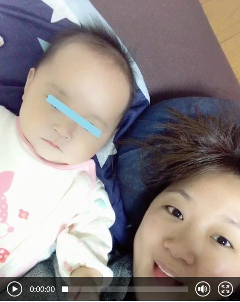 美奈子、6カ月娘と完全すっぴん動画を公開