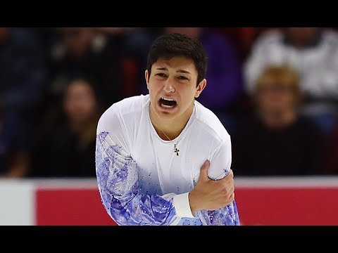 Daniel Samohin injury  2017 Skate America - YouTube