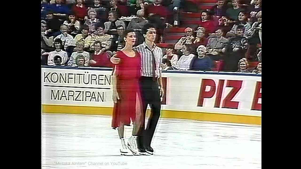"Isabelle and Paul Duchesnay 1990 Worlds - Free Dance ""Missing""  (Halifax) - YouTube"