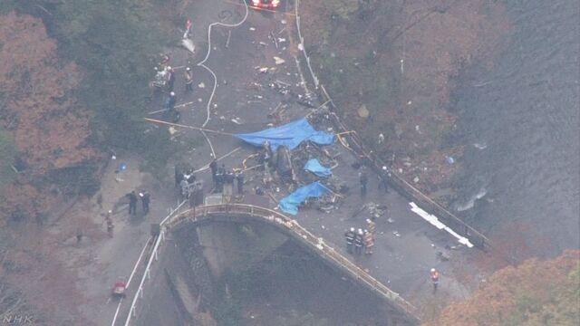 ヘリコプター墜落 4人全員死亡 群馬 上野村   NHKニュース