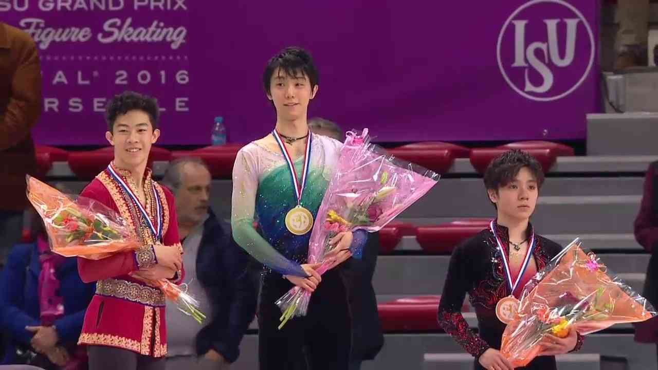 Men Victory Ceremony Grand Prix of figure skating FINAL 2016 Marseille - YouTube